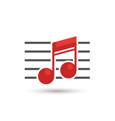 musical notes logo isolated on white background vector image