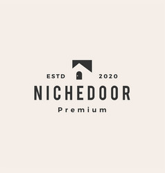 niche door hipster vintage logo icon vector image