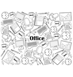 Office colorless set vector