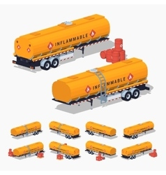 Orange fuel tank vector