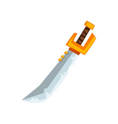 pirate sabre old sword on a vector image