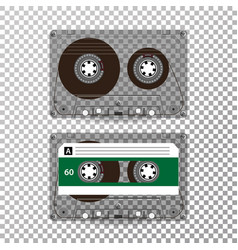 Retro audio cassette realistic vector