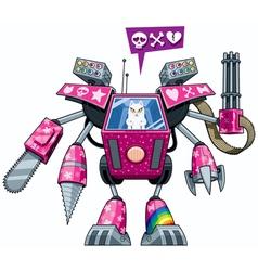 Robo-pussycat vector