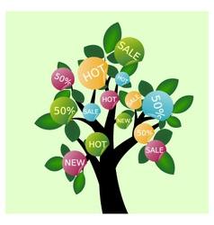 Sale tree vector image vector image