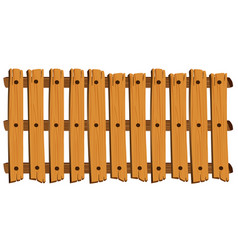 seamless design of wooden fence vector image