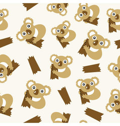 Seamless pattern with koalas vector