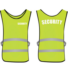 Security safety vest vector