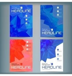Set of abstract flyer templates with vector image