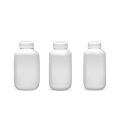 Set of medicine bottles vector image
