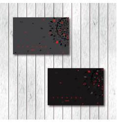 set of two ornamental floral mandala cards vector image