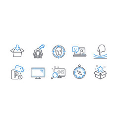 Set technology icons such as elastic travel vector