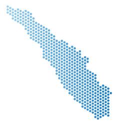 Sumatra island map hex-tile abstraction vector