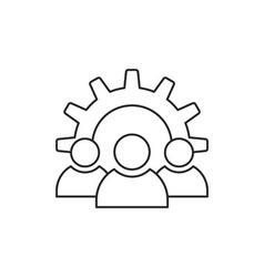 Teamwork icon outline vector