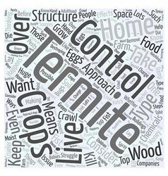 Termite Control Word Cloud Concept vector