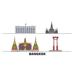 Thailand bangkok flat landmarks vector
