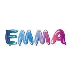 the girls name emma balloons vector image