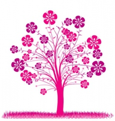 tree spring background vector image vector image