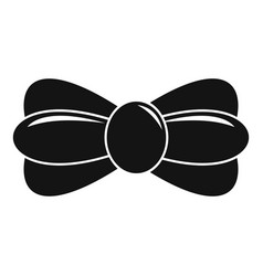 trendy bow tie icon simple style vector image