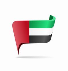 United arab emirates flag map pointer layout vector