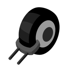 Wheel clamp icon in monochrome style isolated on vector