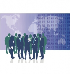 world business people vector image