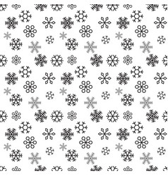 christmas snowflakes on white background seamless vector image
