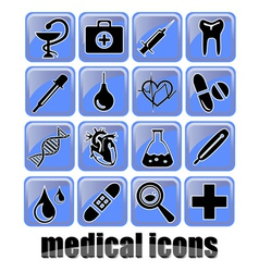 medical icons2 vector image vector image