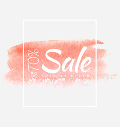 sale final up to 70 off sign over art brush vector image