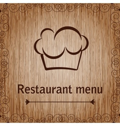 Template of a restaurant menu vector image vector image