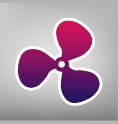 fan sign purple gradient icon on white vector image