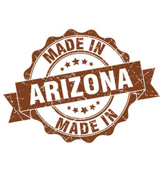 made in arizona round seal vector image vector image
