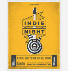 rock night party poster vector image