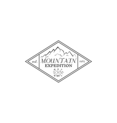 Summer mountain camp badge logo label and icon vector image vector image