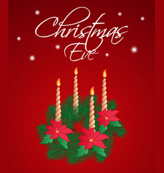 christmas eve greeting card or vertical banner a vector image