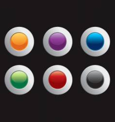 chrome colorful internet icons vector image