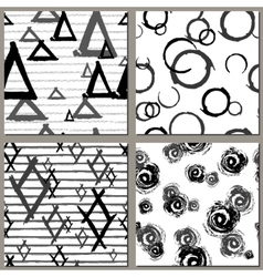 Collection of Creative Hand Drawn seamless vector image vector image