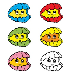 Cute clam vector image vector image