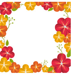 Beautiful natural flowers decoration design vector