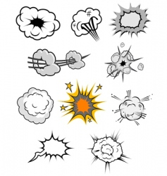 explosions set vector image vector image