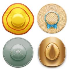 Hats Set 2 vector image vector image