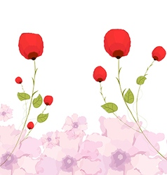 watercolor background and floral vector image vector image