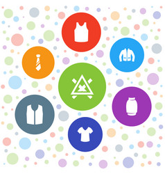 7 shirt icons vector