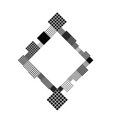 Abstract minimal diagonal square badge background vector