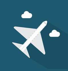 airplane icon set of great flat icons with style vector image