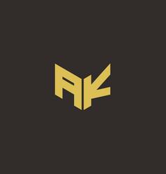 Ak logo letter initial logo designs template vector