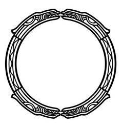 ancient celtic scandinavian mythological symbol vector image