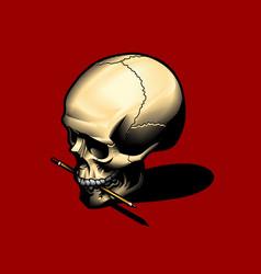 artist skull vector image