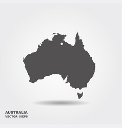 Australia map icon flat vector