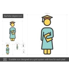 Bachelor degree line icon vector image