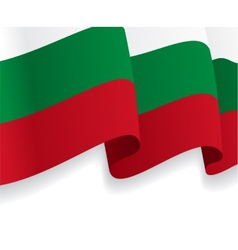 Background with waving Bulgarian Flag vector